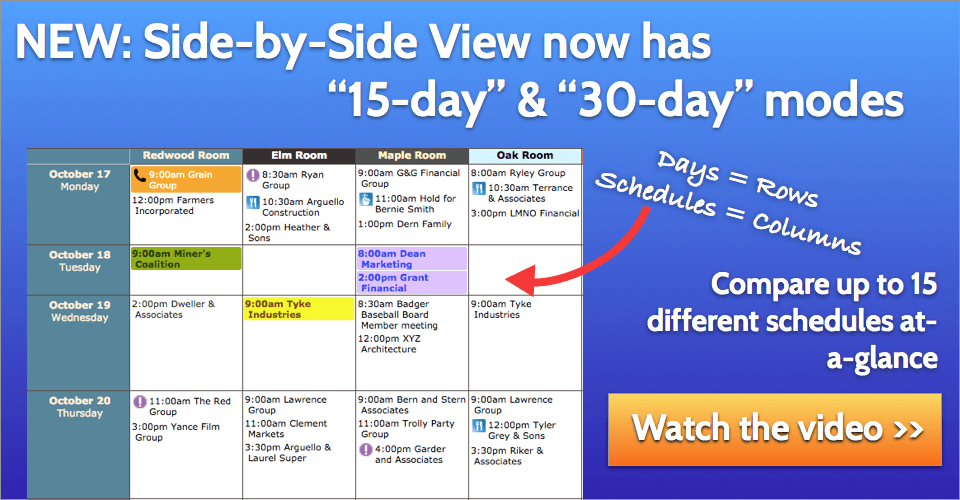 Image is not displayed: Click here to watch the video on 15- and 30-day views in Side-by-Side View