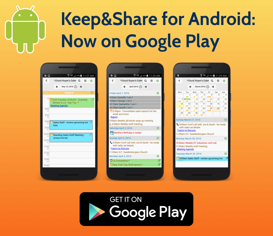 Image is not displayed: Keep&Share for Android is now on Google Play