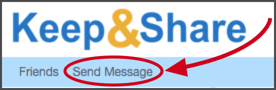 Image showing the Send Message button in your blue bar
