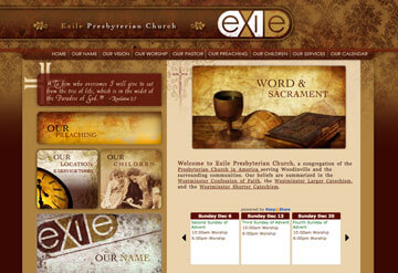 Exhile Presbyterian Church calendar