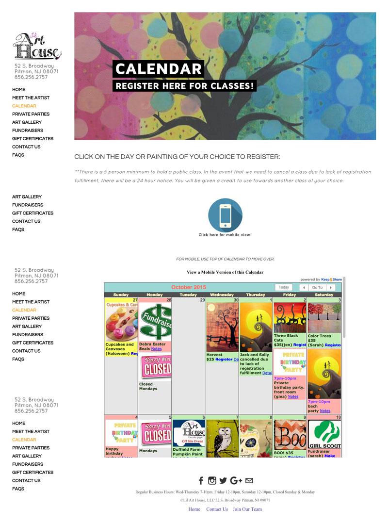 Calendar Website : Easily add an html calendar to your website keep share