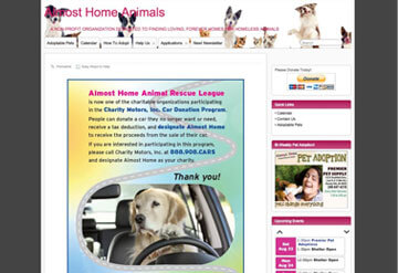 Almost Home Animals calendar