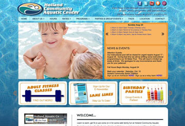 Holland Community Aquatic Center calendar
