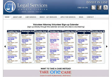 Legal Services of North Florida calendar