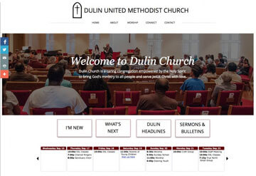 Dulin Methodist Chruch calendar