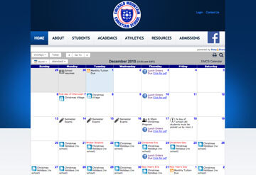 Emerald Mountain Christian School calendar