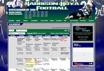 Harrison Hoya football calendar