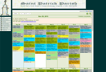Saint Patrick Parish Cathedral calendar