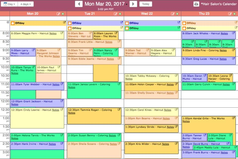 Screenshots Live Sample Calendars – Sample Calendar