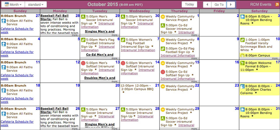 Sample Calendar Template. Calendar Of Activities Sample,Free