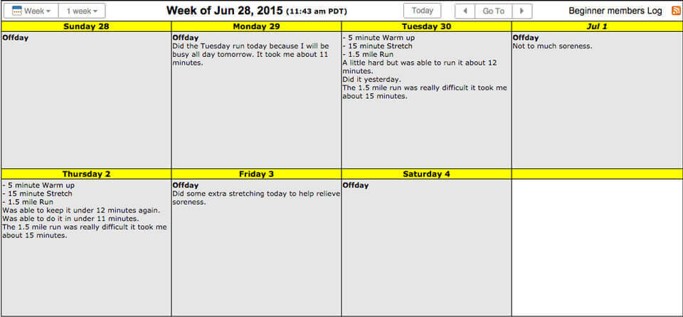 Sample Calendar Athlete Training Calendar Screenshots Live Sample