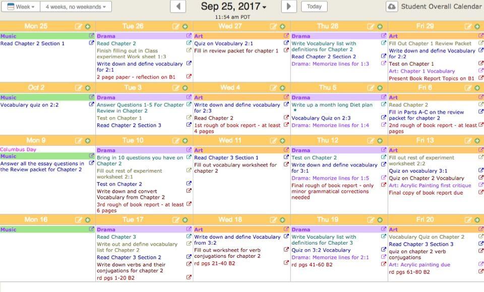 calendar lesson plan