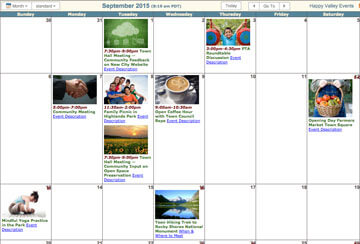 Calendar with photos