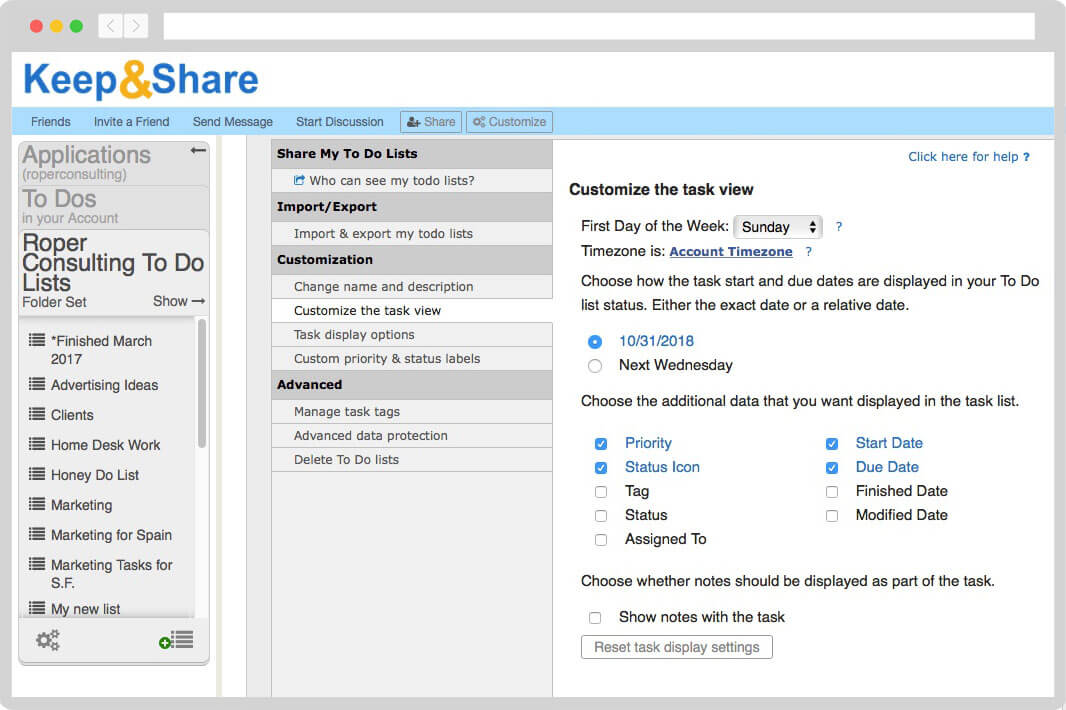 Online To Do List & Task Manager | KeepandShare