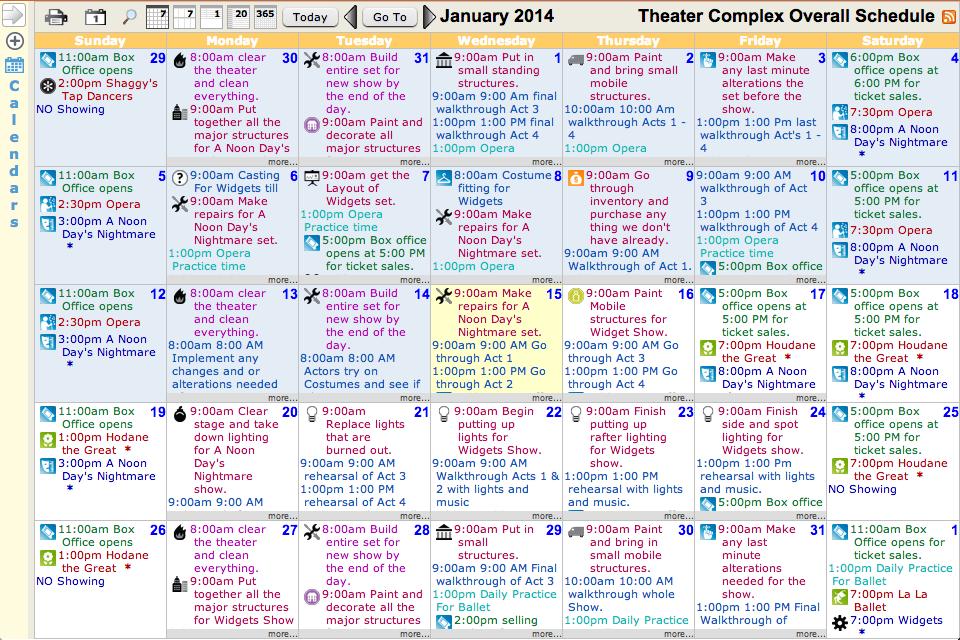 Master Calendar Sample | New Calendar Template Site